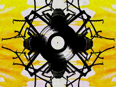 Artwork for event event music dark vinyl bugs illustration flyer party techno