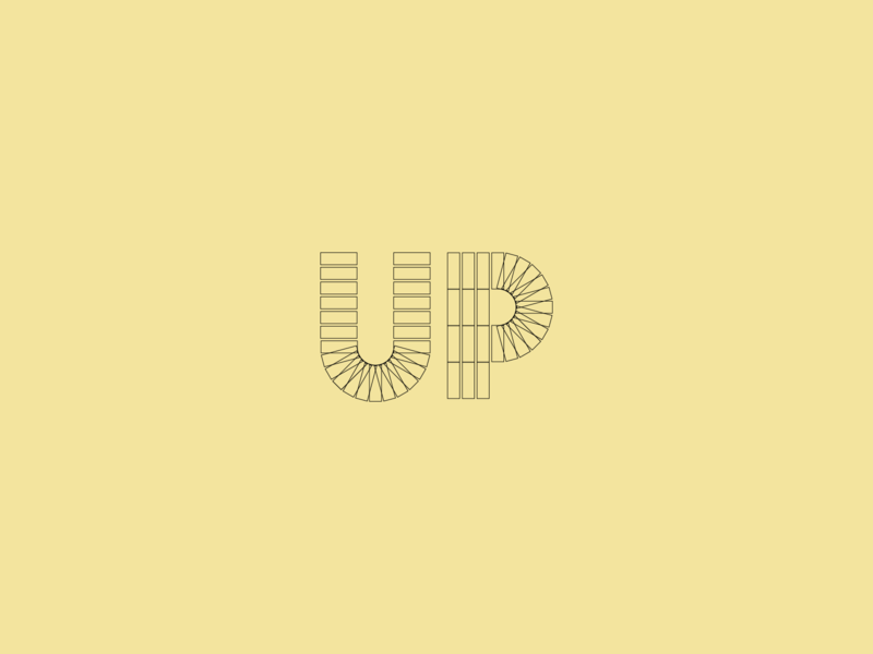 Up weekly warm-up letterform lettering dribbble illustration vector geometry geometrical geometric design geometric