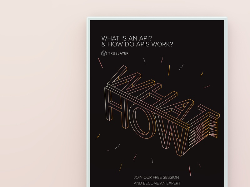 WHAT - HOW lettering typography geometry geometrical geometric design geometric poster a day poster art poster design how what api posters poster