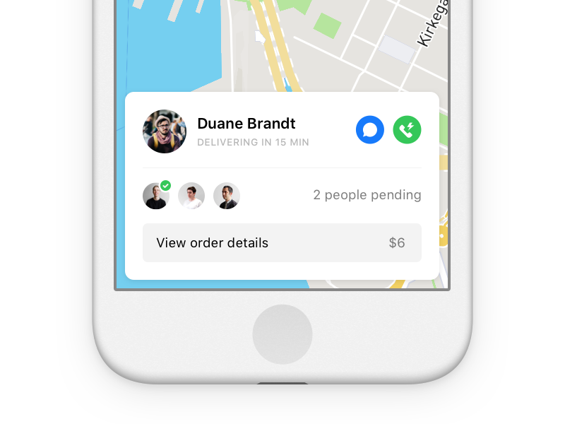 Delivery card ui ios
