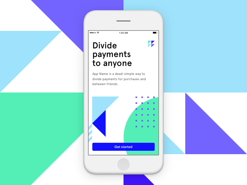 Divide Payments triangle modern brand app ios