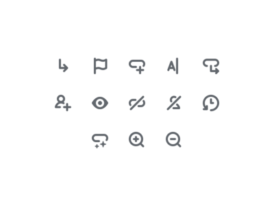 Roadmap Icons history rename flag zoom eye manager ui icon