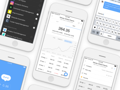 Mirablue ios app investment fund management onboarding
