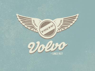 Volvo Logo volvo logo vintage blue brown no pedja-madness here