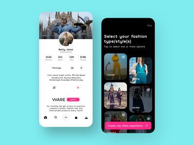 Ware App UI Design