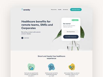 Serenity.Health telemedicine telehealth healthcare app healthcare ui technology ghana