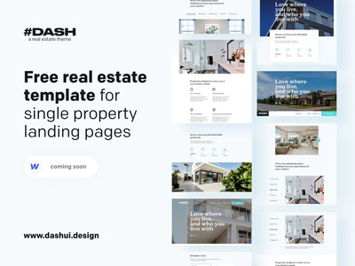 DASH REAL ESTATE v1 property housing landingpage realestate