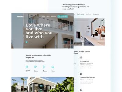 DASH REAL ESTATE 3 real estate agency landing page real estate housing