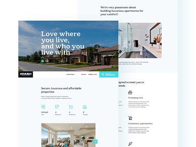 DASH REAL ESTATE 4 home housing real estate landing page