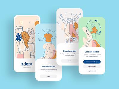 Adora illustrations relax life design