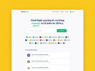 Remote Nerd Job Portal consultant technology design business ui brand ghana
