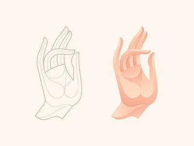 Blessing 2.0 illustration vector gesture hand logo icon mark symbol blessing