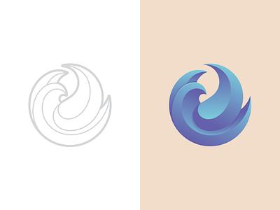 Birdie V3 vector gradient flying wings bird branding identity icon symbol mark logo