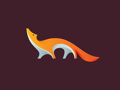 Fox V2 gradient illustration animal fox icon symbol mark logo