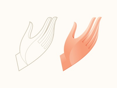 Hand Study illustration vector fingers anatomy icon mark symbol logo gesture hand