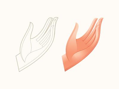 Hand Study 2 vector anatomy icon symbol mark logo illustration gesture hand
