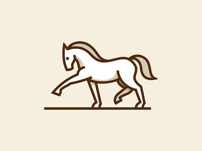 Horse logotype vector line animal icon illustration symbol mark logo horse