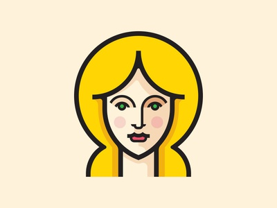 Blonde Lady lady vector icon symbol logo illustration hair portrait face blonde girl