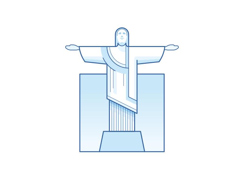 Christ The Redeemer Rio De Janeiro By Dan Dragomir On Dribbble