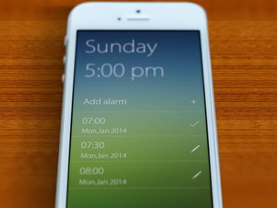 Set Alarm-Main Screen