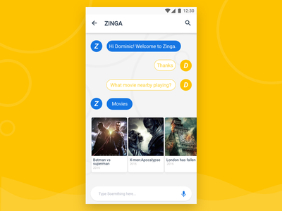 Chat - Assistant App ux ui materialdesign chat assistant ios10