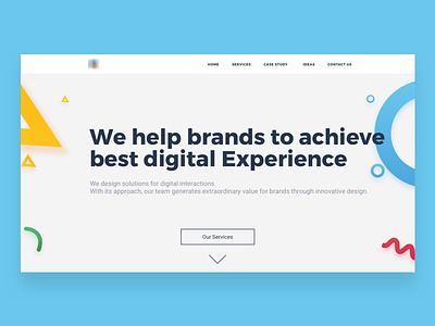 Homepage - Concept ux ui portfolio home hero consultency agency webdesign