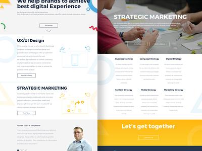 Agency Website illustrations header clients marketing strategic ux ui webdesign