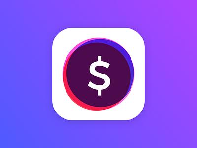 Financial App Icon - Concept financial calculator tip icon app ios10
