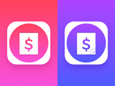 Financial App icon concept 2 financial calculator tip icon app ios10