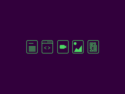 Gitboy File Icons doc web binary image video line green icons file ios10