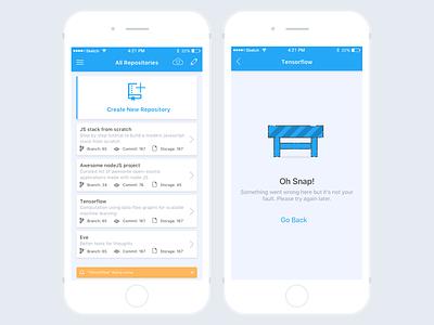 Gitboy App commit ux ui repository walkthrough github ios10
