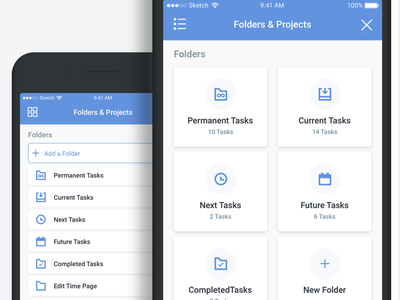 ListView and GridView addtask task gridview listview ux ui ios11