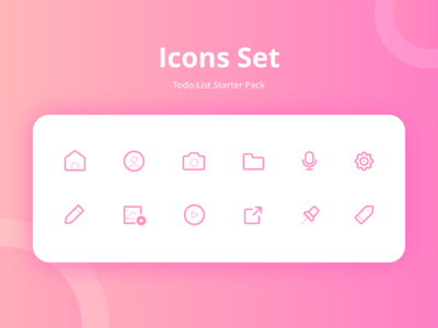 Icons Exploration for Todo-List