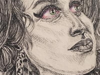 Amy Winehouse rehab singer ink pen watercolor illustration amy winehouse 27