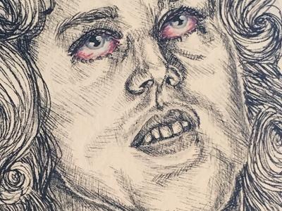 Jim Morrison illustration watercolor pen ink 27 club the doors jim morrison 27