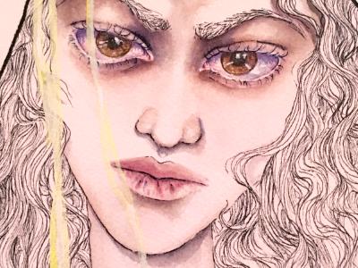 Lemonade eye lemon watercolor illustration lemonade beyonce
