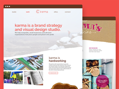 Karma Design hygge organic nature user interface web design ui