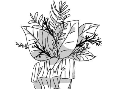 Flora head drawing flora plants flowers illustraion