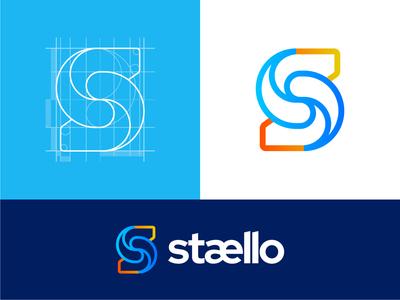 Stællo - Business Review Management Platform colorful symbol brand identity reviews online review review construction grid grid grid layout graphic design minimal mark branding logo