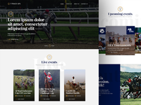 Racehorse tracking service - Landing page
