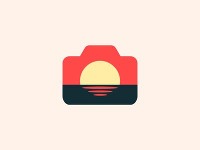 Varna On Air - Photography Logo Proposal ripples branding logo minimal camera photography sunset sea