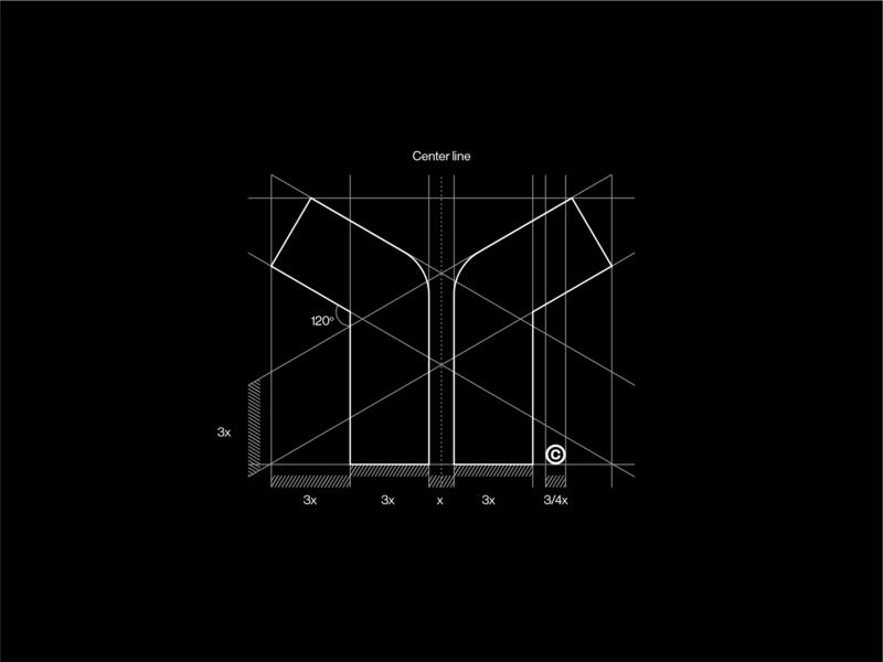Griddin' hard mark symbol minimal logo monogram logogrid construction grid layout grid
