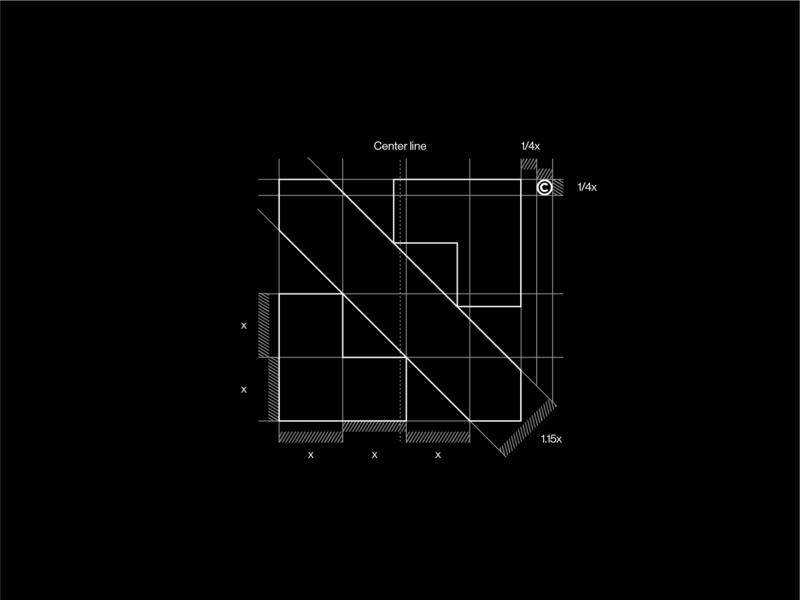 Planning the network technology isp mark internet branding graphic  design grid system grid layout grid logo