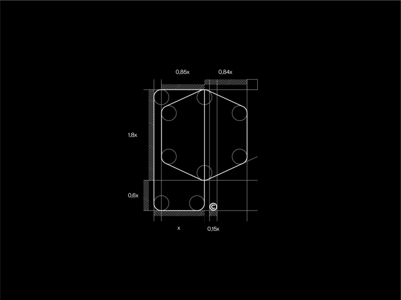 Drawing the line grid logo mark minimal branding sales graphic  design monogram p schematics grid layout grid design grid logo