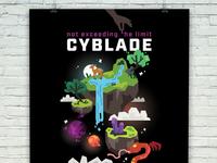 Cyblade Gig Poster