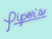 Piper's Logo 3d