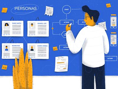 Benefits Of Ux Research digital editorial illustration editorial art drawing illustration