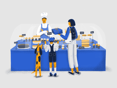 Persuasive Design / How to Nudge Users in the Right Direction procreate procreate art editorial sweets cakes editorial illustration drawing illustration