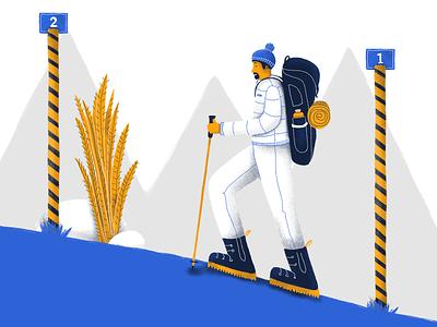 Editorial Illustration - Startups & Wireframes mountain hike editorial editorial illustration art drawing illustration