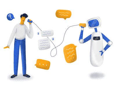 UX Chatbot ux chat robotics robot bot chat bot chatbot editorial illustration editorial draw drawing illustration